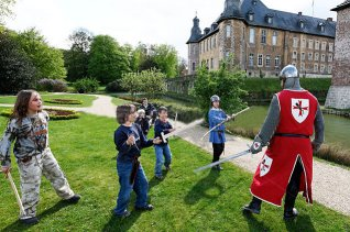 children confront knight of the religious realm
